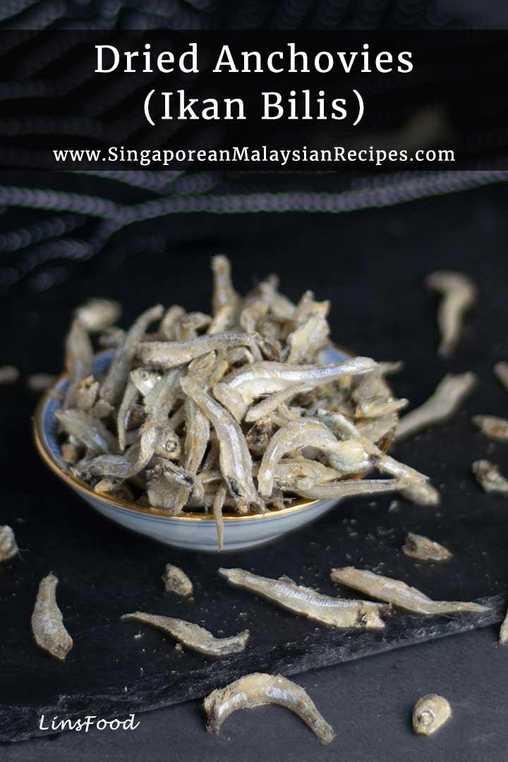 Ikan bilis, dried anchovies