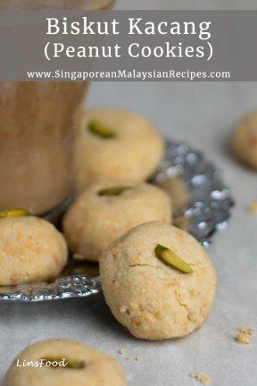 Biskut Kacang with coffee pinterest